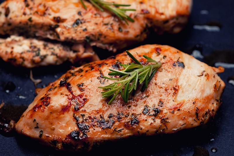 Grilled chicken.