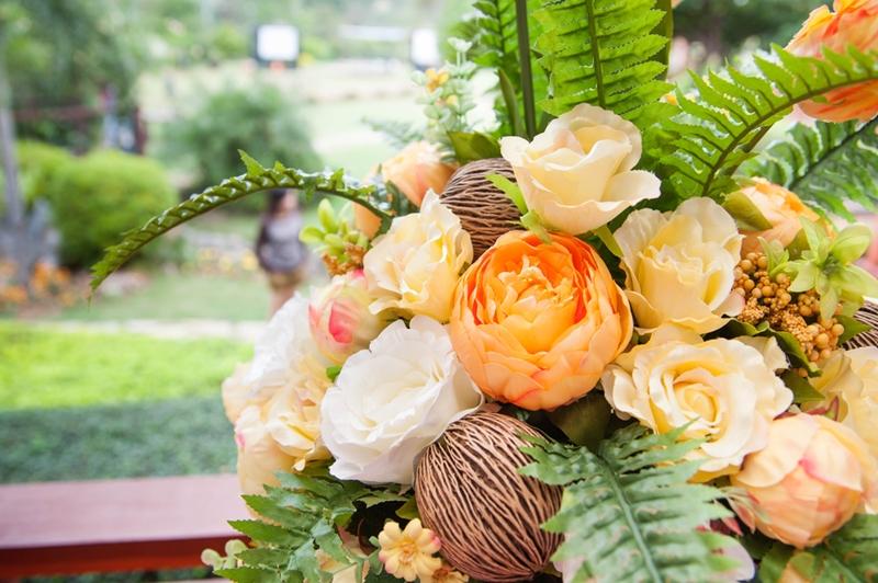 Flower bouquet arrangement for decoration.