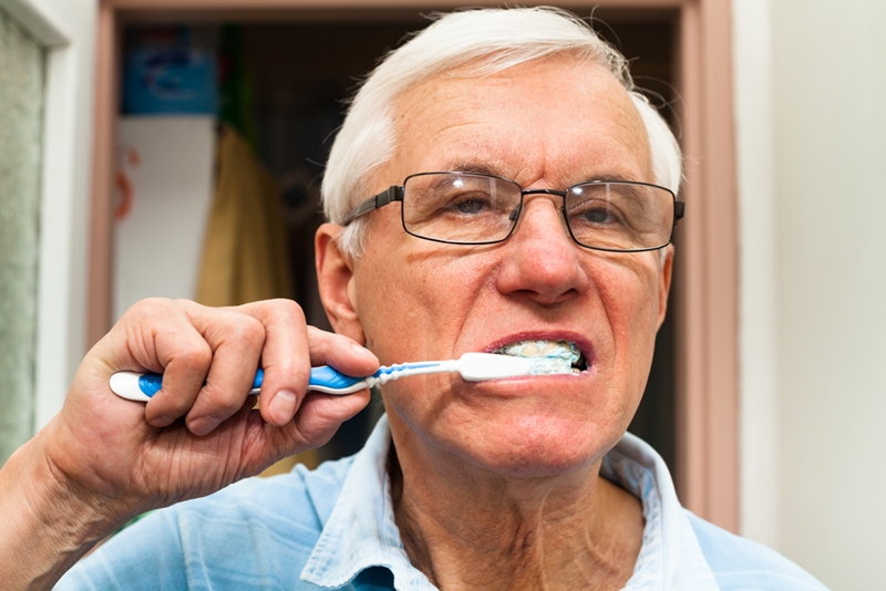 Seniors must take extra care of their teeth.