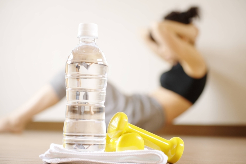 Always have water on hand when you workout.